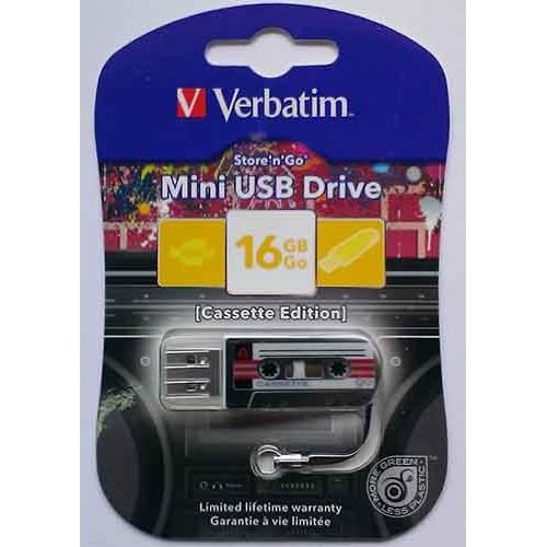 Купить Flash Verbatim 16GB Cassete Edition Black