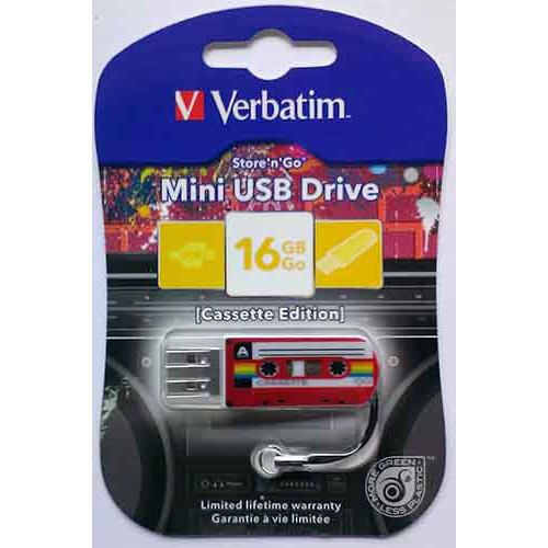 Купить Flash Verbatim 16GB Cassete Edition Red