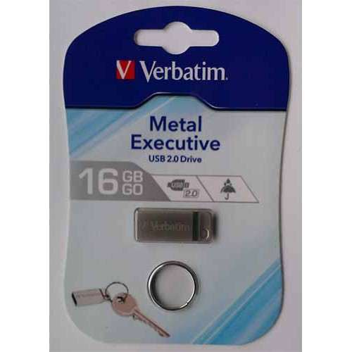 Купить Flash Verbatim 16GB Metal Executive Silver