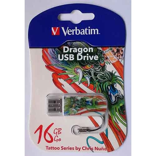 Купить Flash Verbatim 16GB StoreNGo Mini Dragon