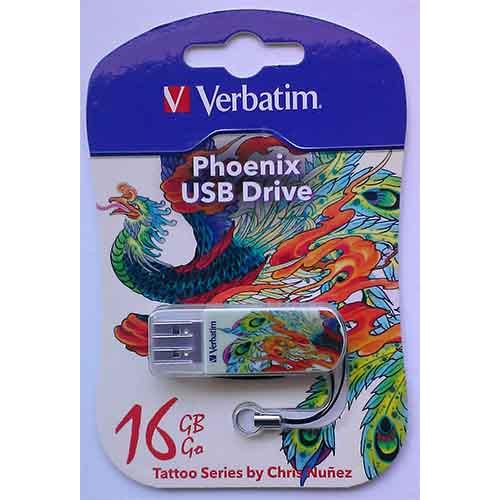 Купить Flash Verbatim 16GB StoreNGo Mini Tattoo Phoenix