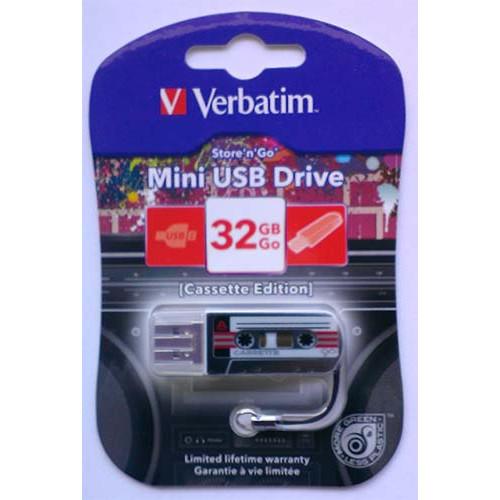 Купить Flash Verbatim 32GB Cassete Edition Black