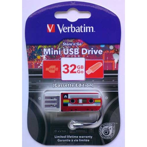 Купить Flash Verbatim 32GB Cassete Edition Red