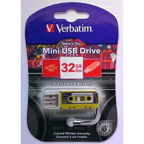 Купить Flash Verbatim 32GB Cassete Edition Yellow