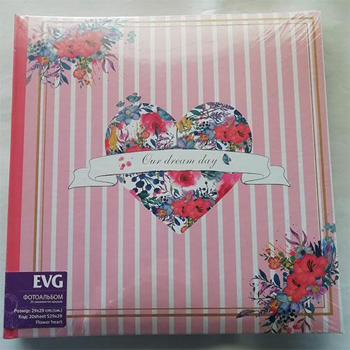 Купить Фотоальбом EVG S29x29 20л Flower heart