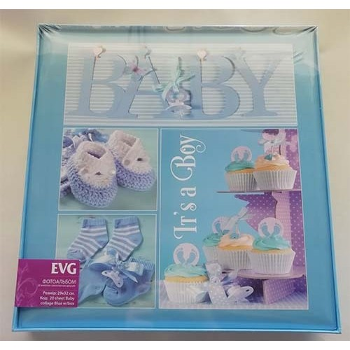 Купить Фотоальбом EVG S29x32 20л Baby collage blue