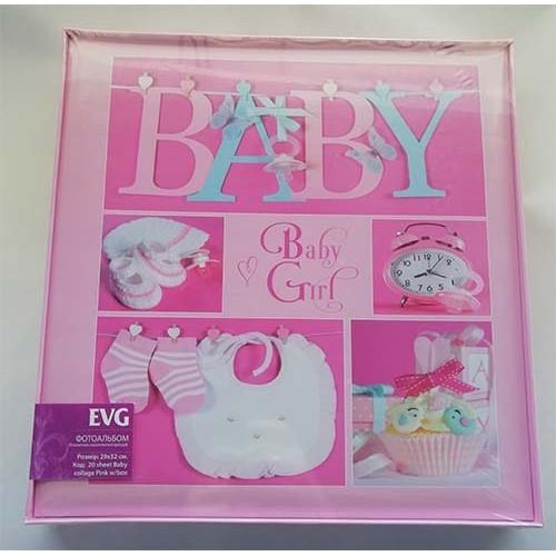Купить Фотоальбом EVG S29x32 20л Baby collage pink