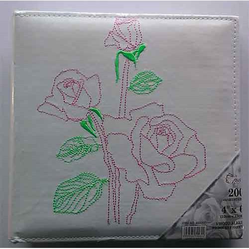 Купить Фотоальбом Foto 10x15x200 УЦЕНКА кожзам с двумя цветками