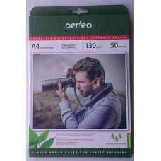 Фотобумага A4 Perfeo 130 g/m 50л глянец