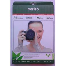 Фотобумага A4 Perfeo 190 g/m 50л глянец