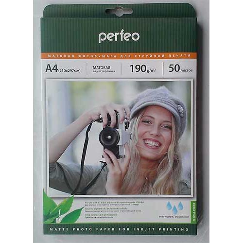 Купить Фотобумага A4 Perfeo 190 g/m 50л матовая