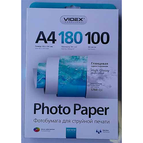 Купить Фотобумага A4 Videx 180 g/m 100л
