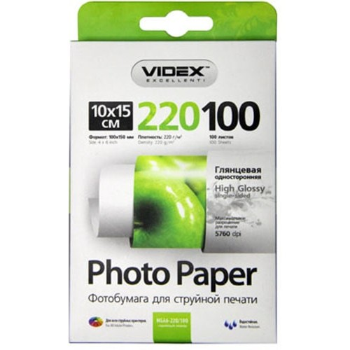 Купить Фотобумага A6 Videx 220 g/m 100л