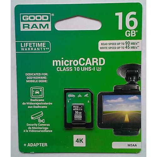 Купить micro-SDHC Card Goodram 16GB UHS-1/U3  + адаптер