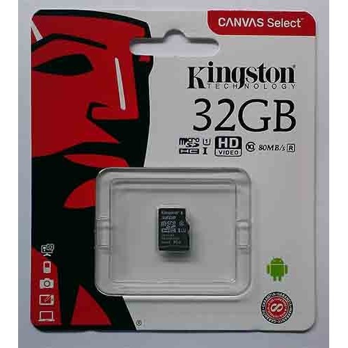 Купить micro-SDHC Card Kingston 32GB UHS-1 Class10 Canvas Select