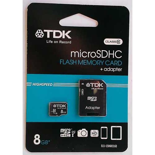 Купить micro-SDHC Card TDK 8GB Class10+SD