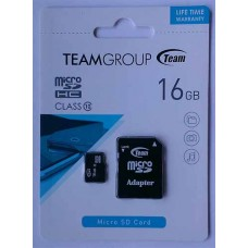 micro-SDHC Card Team 16GB Class 10 + адаптер