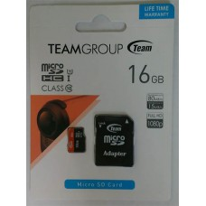 micro-SDHC Card Team 16GB UHS-1 Class 10 + адаптер