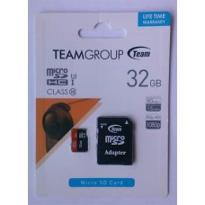 micro-SDHC Card Team 32GB Class 10 + адаптер