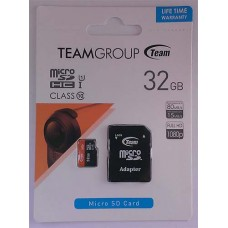 micro-SDHC Card Team 32GB UHS-1 Class 10 + адаптер