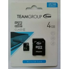 micro-SDHC Card Team 4GB Class4 + адаптер