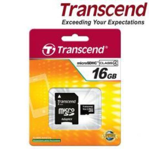 Купить micro-SDHC Card Transcend 16GB Class 4 + SD