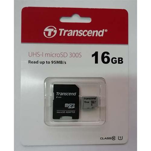 Купить micro-SDHC Card Transcend 16GB UHS-1 Class 10 300S + адаптер