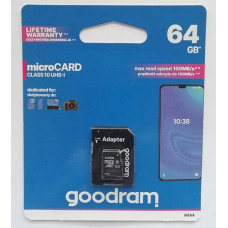 micro-SDXC Card Goodram 64GB UHS-1 Class10 + SD