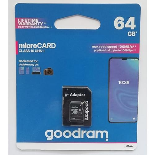 Купить micro-SDXC Card Goodram 64GB UHS-1 Class10 + SD