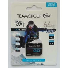 micro-SDXC Card Team 64GB UHS-1/U3  + адаптер