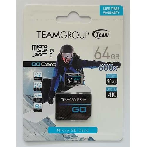 Купить micro-SDXC Card Team 64GB UHS-1/U3  + адаптер