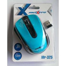 Мышь Maxxtro беспроводная Mr-325  голубая USB