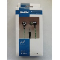 Наушники SVEN E-107 Black/Green