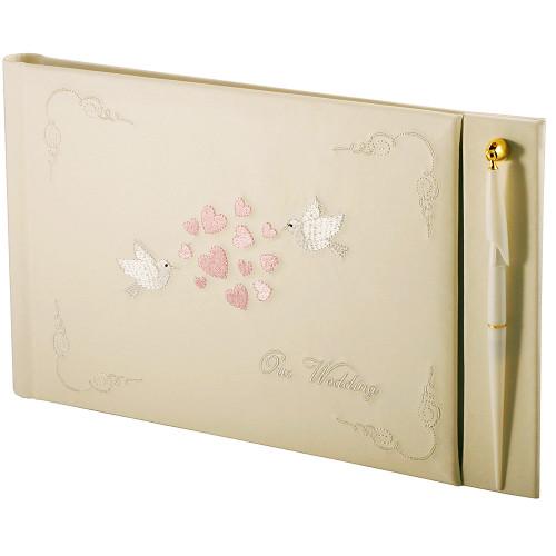 Купить Альбом CHAKO 20 Sheet  WEDDING GUEST BOOK 195X250 MM WG-65P (PU LEATHER COVER)