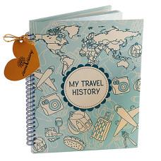 Альбом HOME HISTORY для мандрівок Travel History (RU) blue