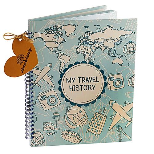 Купить Альбом HOME HISTORY для мандрівок Travel History (RU) blue