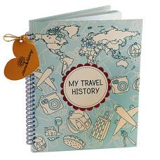 Альбом HOME HISTORY для мандрівок Travel History (RU) bordo