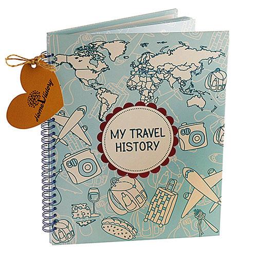 Купить Альбом HOME HISTORY для мандрівок Travel History (RU) bordo
