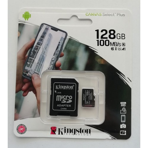 Купить micro-SDXC Card Kingston 128GB UHS-1 Canvas Select Plus R1000Mb/s + адаптер